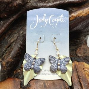 NWT Vintage Jody Coyote butterfly iridescent gold